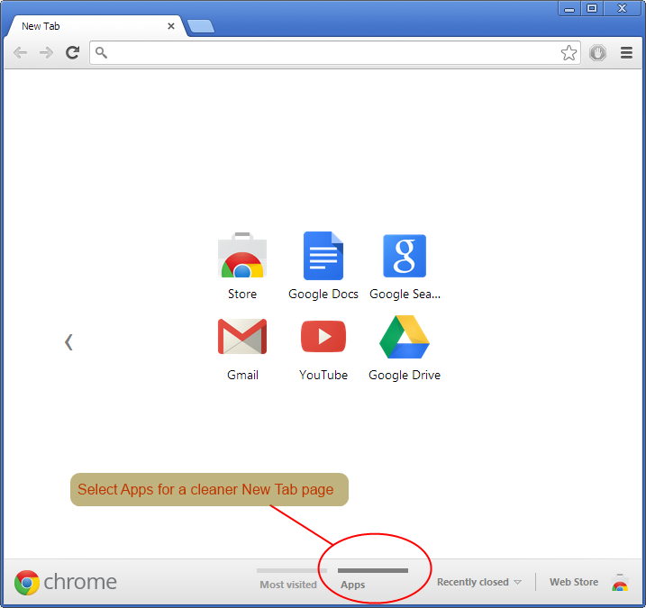 Hide Recently Visited Sites In Chrome's New Tab - Paul